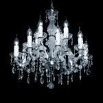 Maria Theresa kroonluchter in Italiaans Glaskristal of origineel bewerkt met Swarovski kristal speciaal voor uw interieur