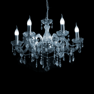 Maria Theresa 6-arms met Swarovski kristal