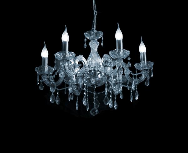 Maria Theresa 5-arms kroonluchter met Italiaans Glaskristal of met Swarovski kristal Crystal World Amsterdam