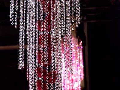 Waterval gemaakt van Swarovski kristal te huur voor evenementen