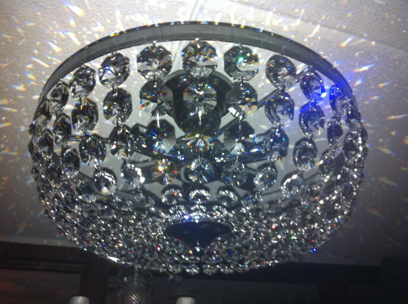 Plafonniere Met Kristallen : Plafonniere met swarovski kristal cm u crystal world amsterdam