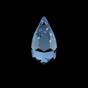 Swarovski kristallen druppel 20x12mm