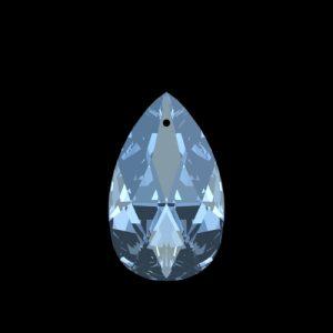 Swarovski Spectra Amandel pegel kristal 28x17mm