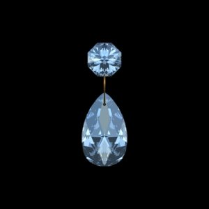Pegel met Swarovski Spectra kristal