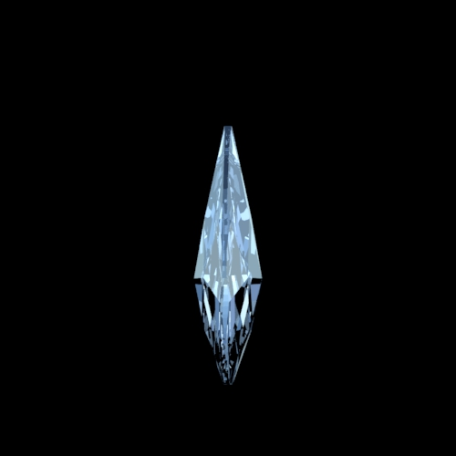 Swarovski Spectra amandel kristal