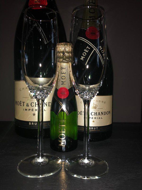 crystallized champagne glazen met Swarovski kristal Crystalworld Amsterdam