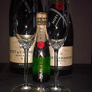 Crystallize your life champagne glazen per 2 met Swarovski plakkristallen
